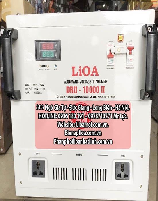 Lioa 10 kVA DRII-10000 dây đồng 100%