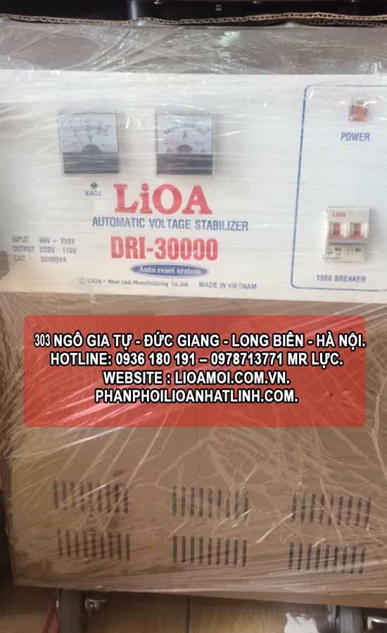 Ổn áp lioa DRI 30kva (lioa DRI-30000 tồn kho) giá rẻ