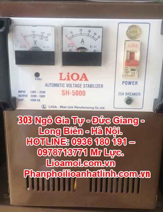 Ổn áp lioa Sh-5000 (Lioa SH 5kva tồn kho giá rẻ)