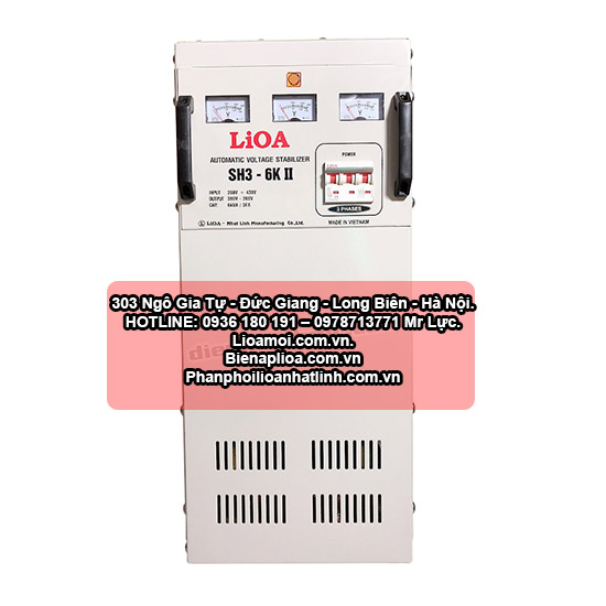 Ổn áp lioa SH3-6kva 3 pha