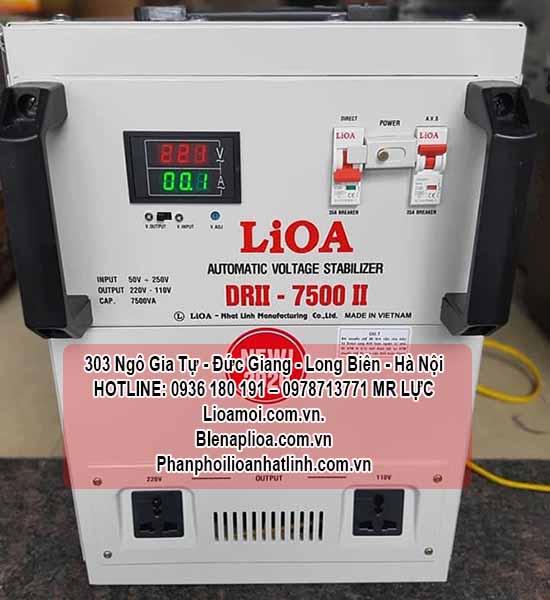 Lioa 7,5kva DRII-7500 dây đồng xịn