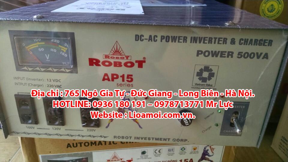 Đại lý sạc ắc quy, nạp ắc quy robot tại Long Biên