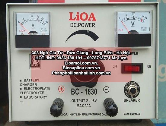 Nạp ắc quy lioa BC1830 thế hệ mới